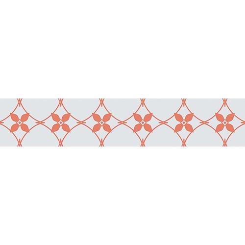 Sticker décoratif pour contremarche modèle céramique orange