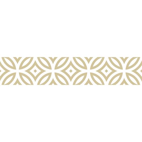 Sticker autocollant décoratif imitation carreaux de ciment doré