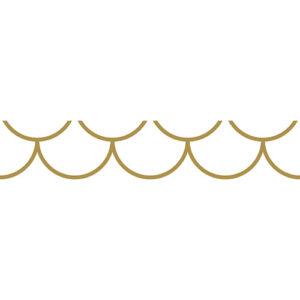 Sticker autocollant décoratif modèle écailles blanche et or