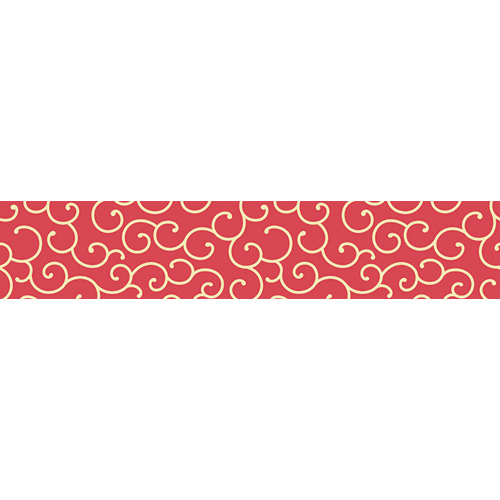 Sticker rouge motif nuages pour contremarches