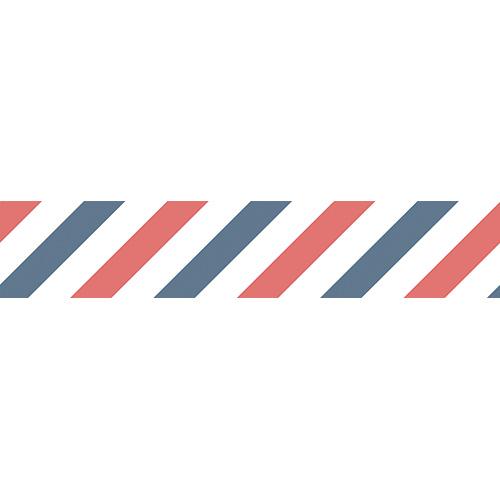 Stickers autocollants bandes bleues blanches et rouges pour contremarches