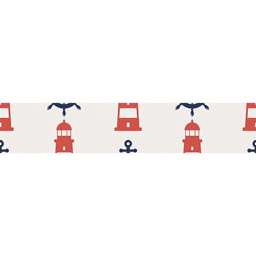 Sticker autocollant motif phare rouge pour contremarches d'escalier