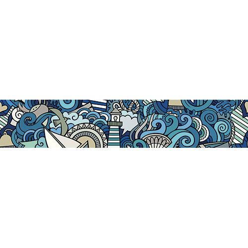 Sticker autocollant décoratif ras de marrée pour contremarche