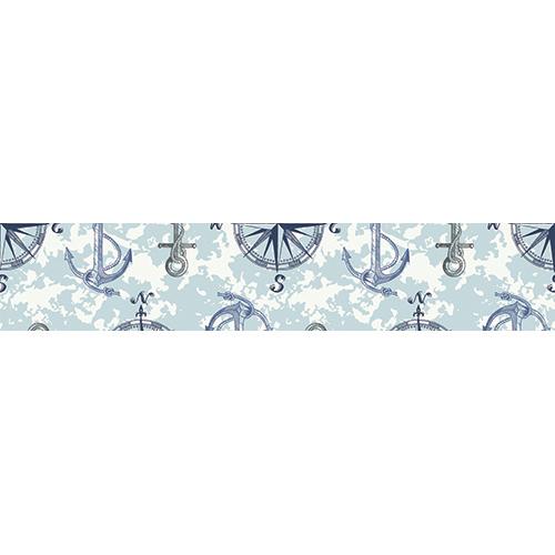Sticker autocollant décoratif matériel marin bleu