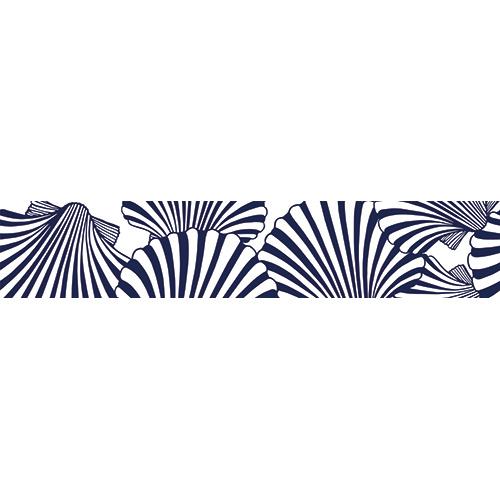 Sticker décoratif mosaïque de coquilles St Jacques pour contremarches
