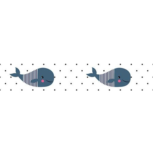 Sticker autocollant pour enfants motif baleines