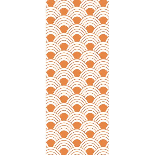 Sticker autocollant pour portes modèle orange écailles de poissons