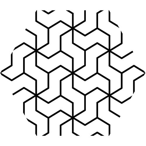 Cuisine industrielle avec crédence d'évier en béton personnalisée par des sticker hexagones kaléidoscope.