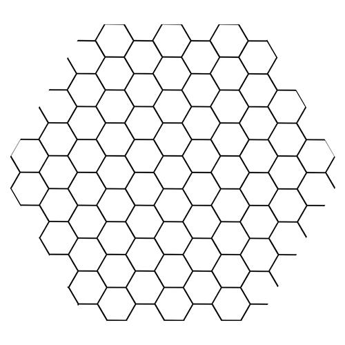 Décoration des murs de salle de bain avec sticker faux carrelage hexagones nid d'abeille noir et blanc