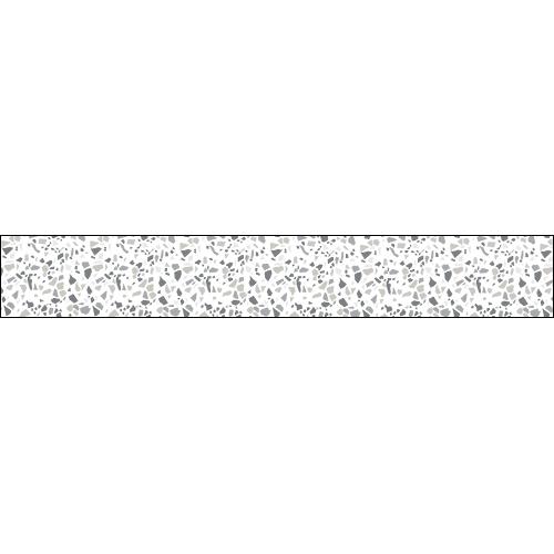 Sticker pour contremarche d'escalier effet matière granito gris en trompe-l'oeil.