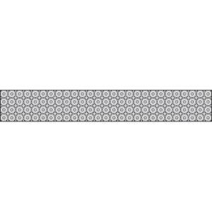 Sticker pour tiroirs ou contremarche d'escalier à personnaliser avec un motif de céramique rosace grise.