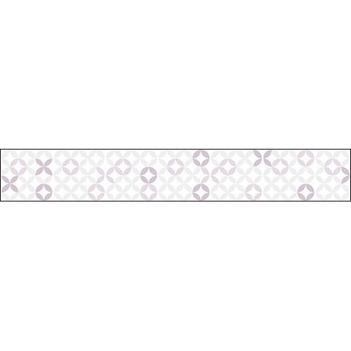 Contremarches pour escalier motif rosace rose poudré.