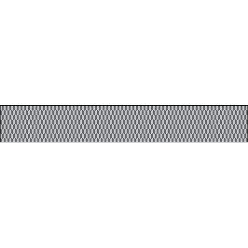 Sticker pour tiroir de commode ou contremarche d'escalier avec un motif chevrons 3D gris et blanc.
