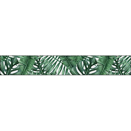 Contremarches adhésive Urban Jungle feuilles exotique B