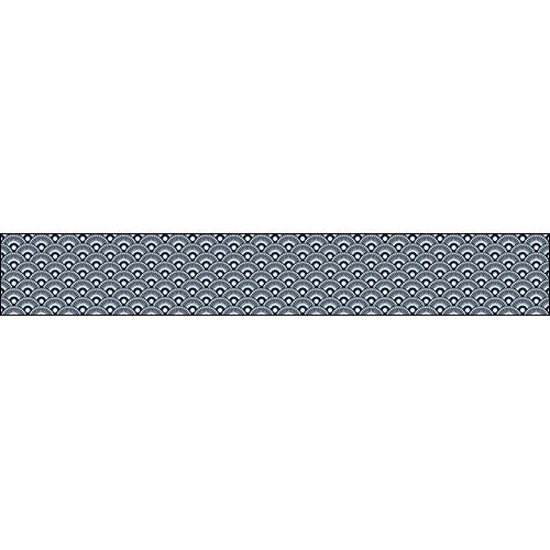 Transformez votre déco d'escalier moderne avec un ensemble de sticker pour contremarche d'escalier au motif écaille bleu japon et apportez une touche déco incroyable.
