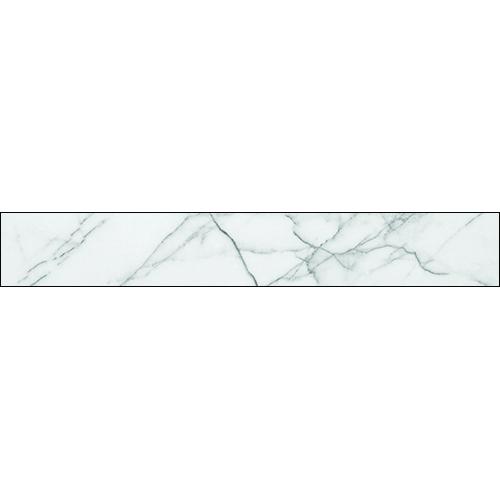 Adhésif déco pour escalier effet marbre blanc nervuré de gris.