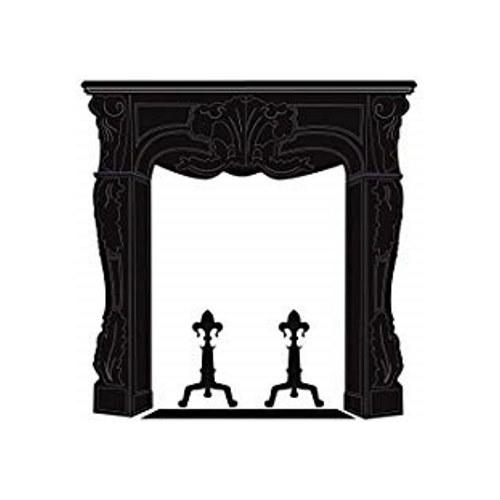 Silhouettes adhésive de cheminée - déco adhésive pour salon, bueau ou chambre