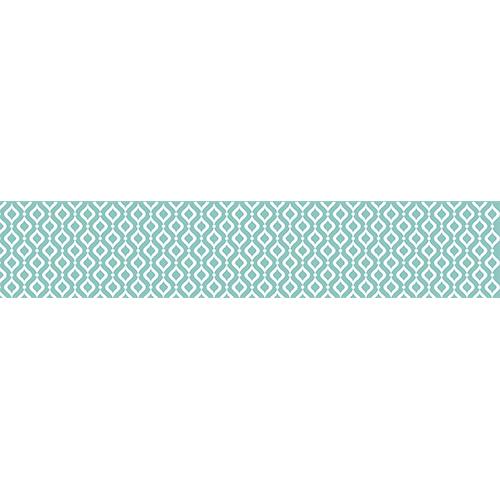 Sticker pour contremarches, tendance scandinave, bleu ciel et blanc