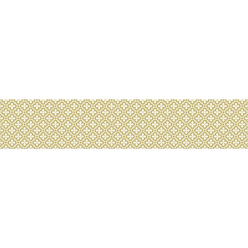 Sticker contremarche d'escalier avec motif trègle couleur doré