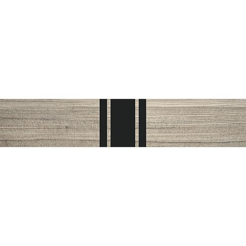 Adhésif moderne décoratif pour contremarches, bois et lé noir