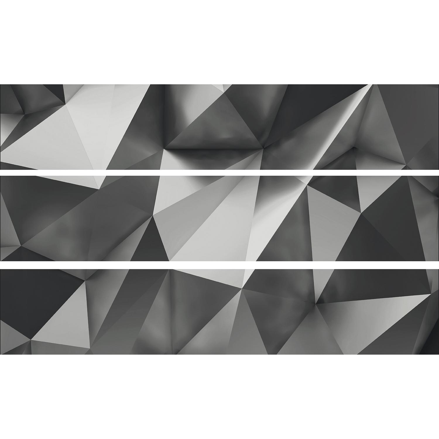 Décor pour contremarches d'escalier effet 3D géométrique en trompe-l'oeil.