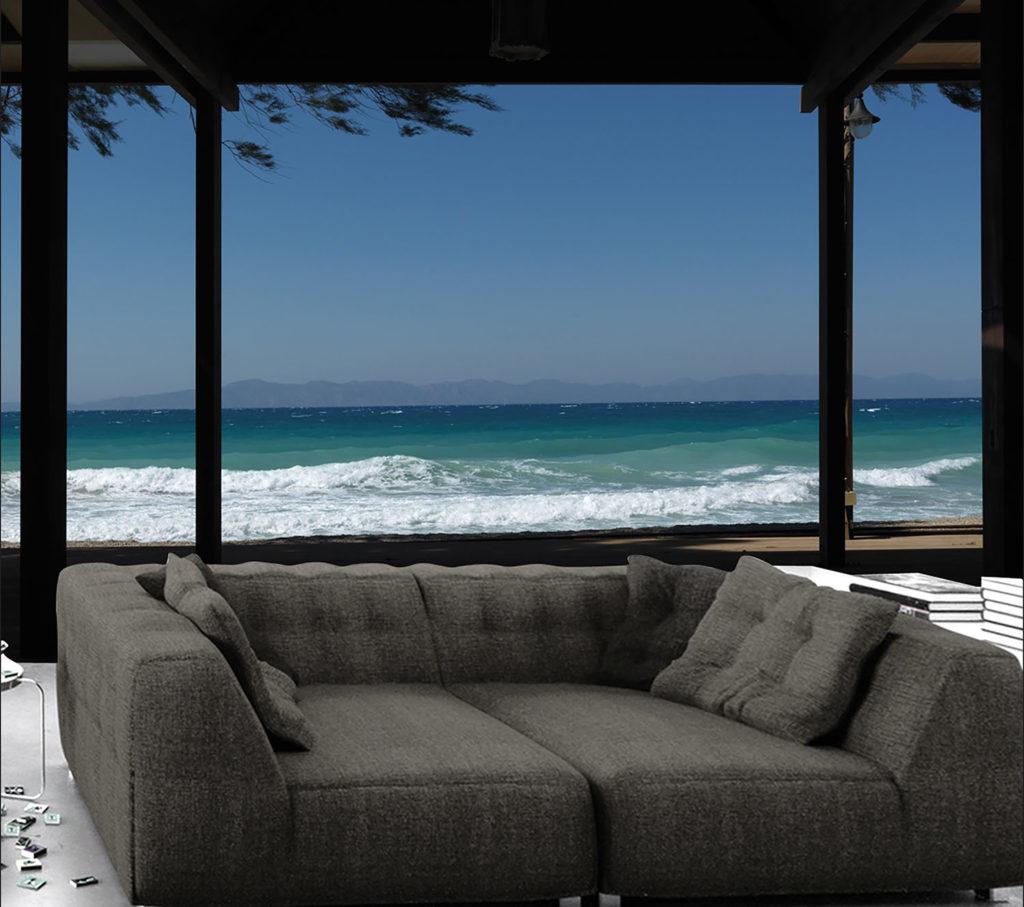 Au bord de la mer, dans votre salon avec un canapé confortable