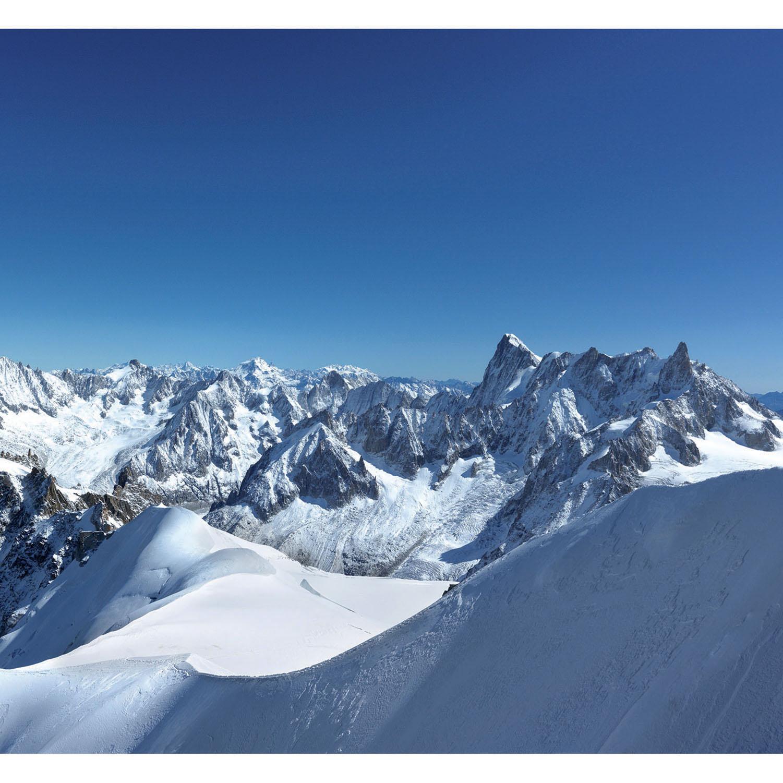 Mur d'image paysages des sommets enneigés