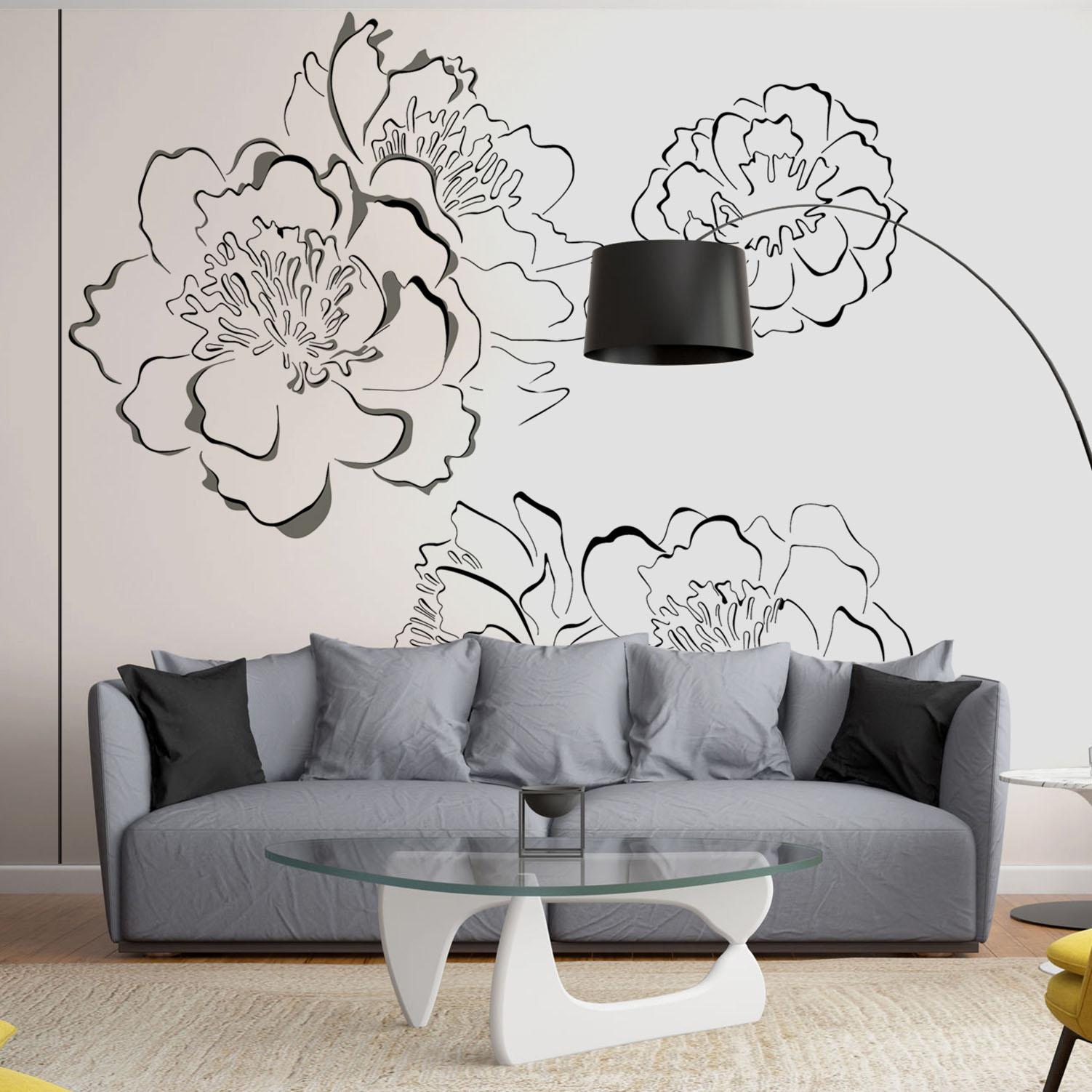 Mur d'image géant bouquets de fleurs