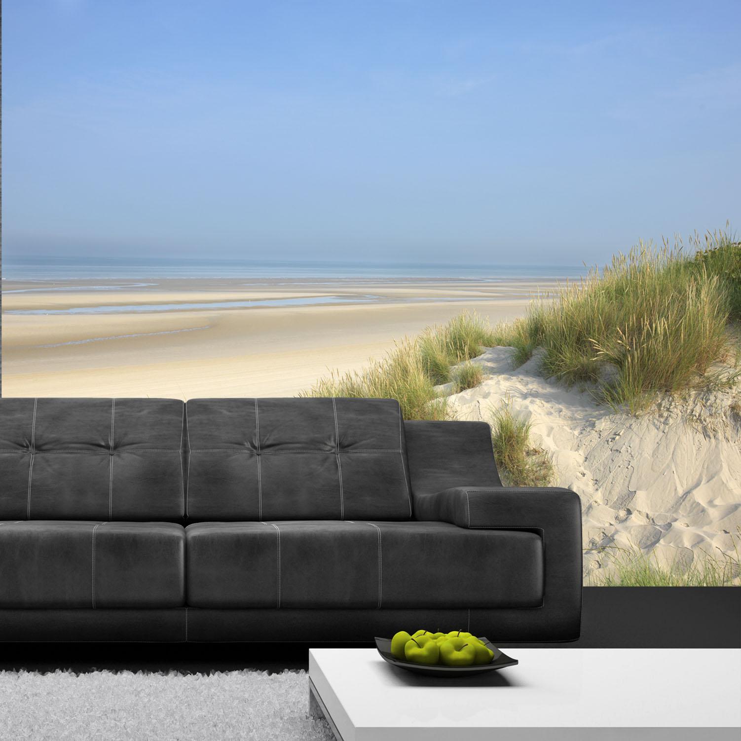 panoramique à coller au bord de la mer sable blanc