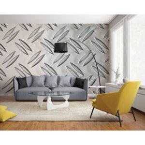 panoramique grand format aluminium gris métal travaillé