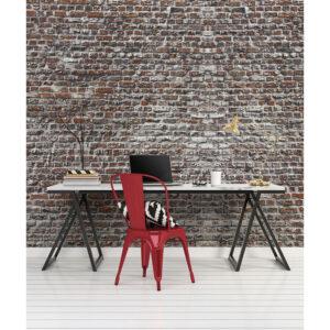 Mur d'image briques rouges anciennes