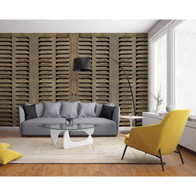 panoramique décoratif grand format dans salon contemporain
