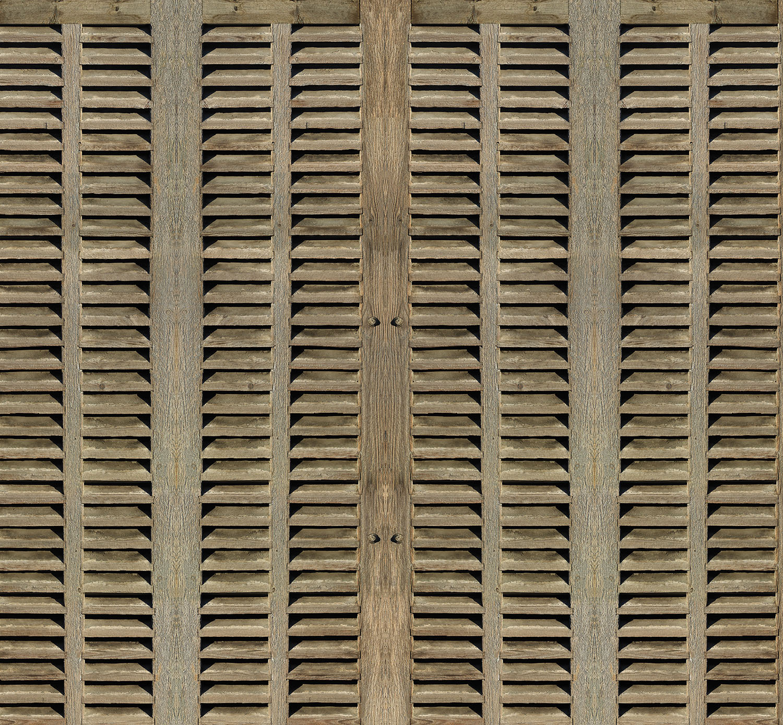 Mur d'image persiennes en bois