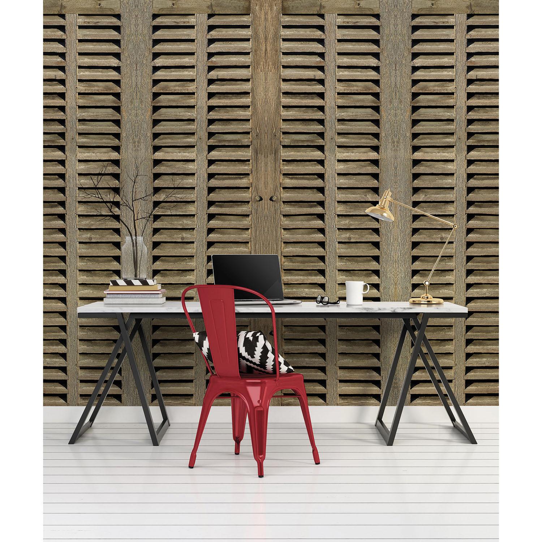 Mur d'image grande taille persiennes bois
