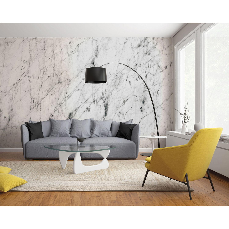 panoramique géant effet marbre blanc avec marbrures
