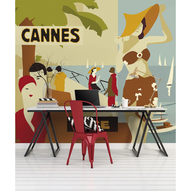 Mur d'image Cannes été vintage chapeau et bord de mer
