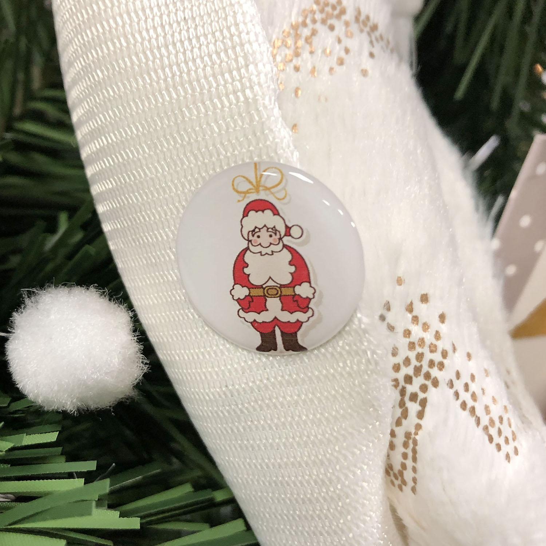 Sticker rond Père Noël