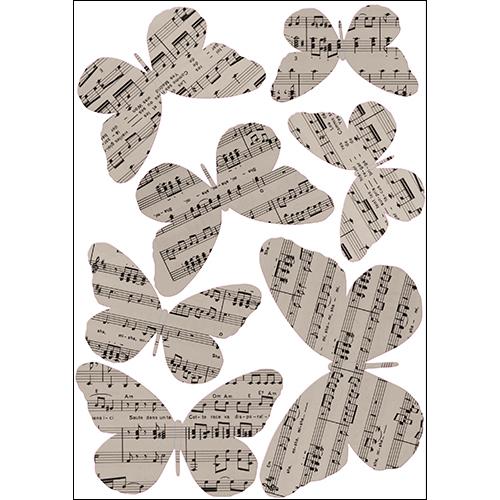Sticker Papillons musique concerto décoration murale