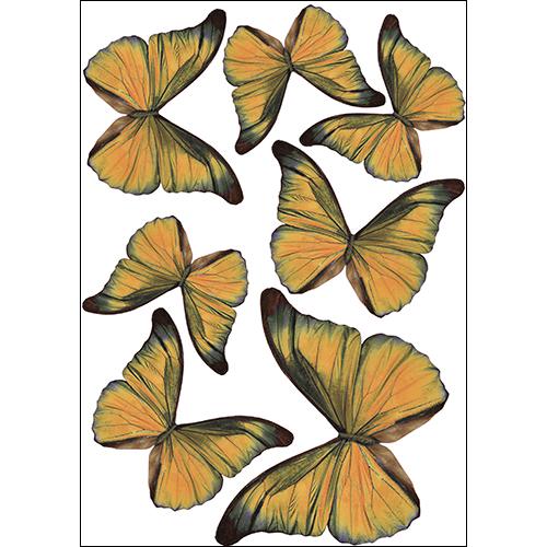 Stickers autocollants représentant des papillons jaunes décoration en 3D