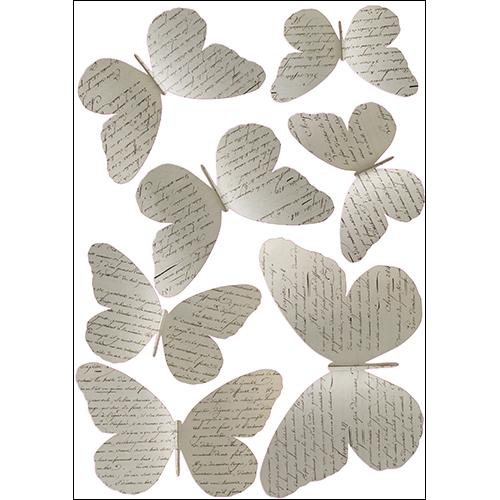 Sticker autocollant Papillons manuscrits décoration en 3D