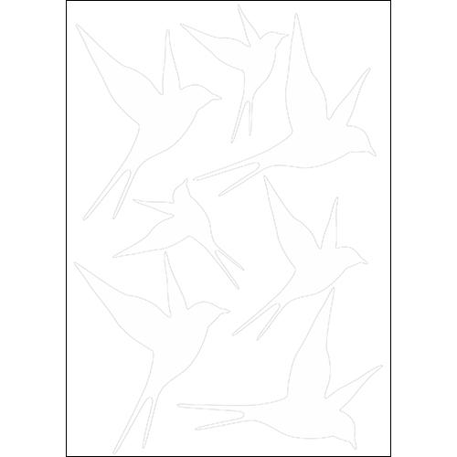 Stickers autocollants en 3D représentant des hirondelles blanches