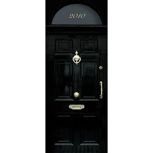 Sticker porte pour porte autocollant de couleur noir, cette porte est typique des rue de Londres et plus précisément du 10 downing street