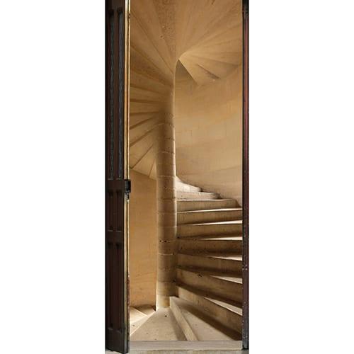 sticker Escalier à vis pour porte