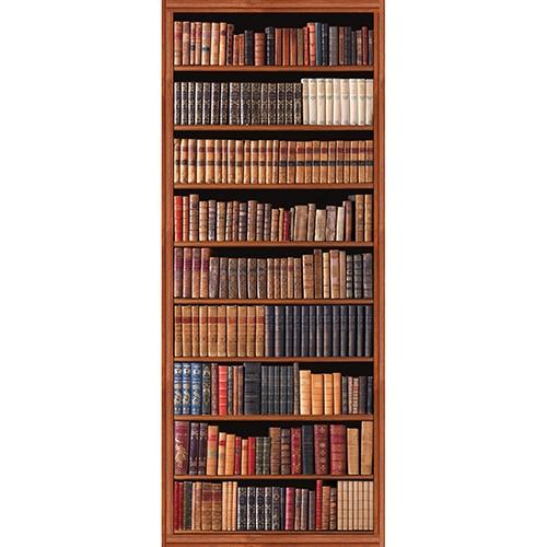 Sticker bibliothèque avec étagères de Livres Anciens.