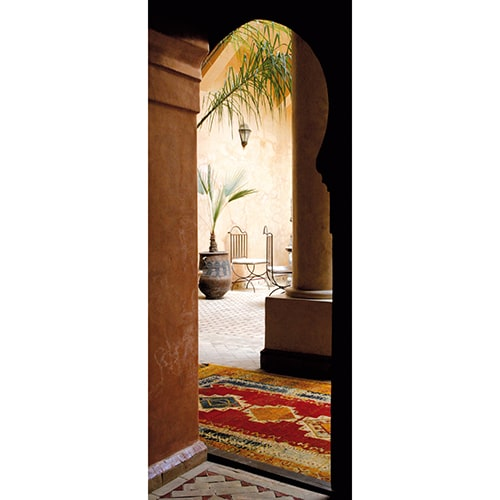 Sticker trompe l'oeil pour porte Marrakech
