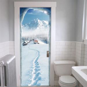 "Sticker de porte ""Naskapis"" dans WC"