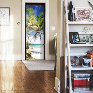 """""""Il y a le ciel le soleil et la mer"""" dans mon entrée de maison pour décorer et s'évader"""