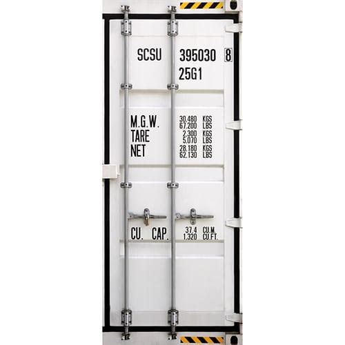 Autocollant pour porte représentant un containeur