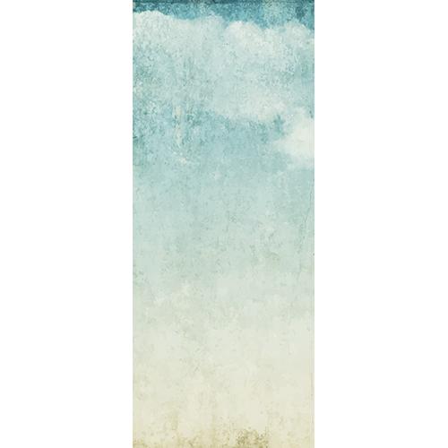 Sticker autocollant porte turquoise mer nuage peinture