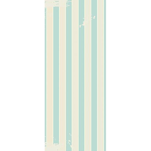 Sticker adhésif pour décorer les portes modèle Cabine de plage vintage